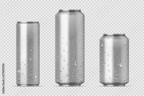Photo Realistic metal cans