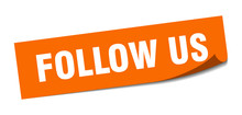 Follow Us Sticker. Follow Us S...