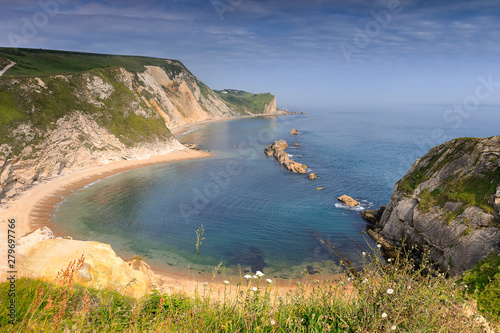 Photo The Man O' War Beach on the Dorset Coast of Southern England in summer