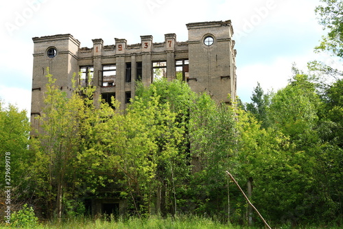 Valokuvatapetti destroyed building 1937 Russia