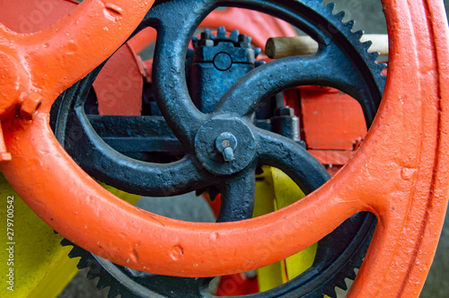 Part of the big gear is the gears. Canvas Print