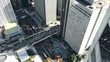 Aerial timelapse view of a street in Tokyo, Japan