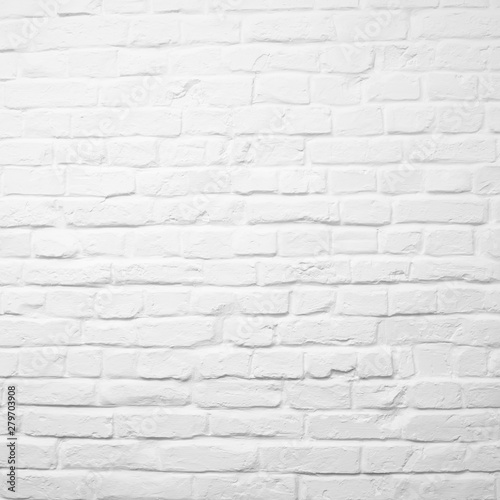 Obraz White brick wall can be used for background - fototapety do salonu
