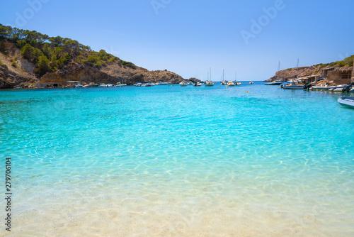 Foto auf Leinwand Turkis Ibiza Cala Vadella alse Vedella beach