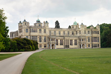 Front Facade View Of Audley End House, Saffron Walden CB11 4JF, UK 15th Of June 2019