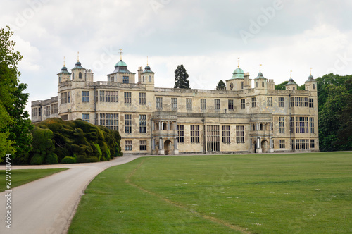 Платно Front facade view of Audley End House, Saffron Walden CB11 4JF, UK 15th of June