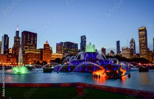 Foto op Aluminium Chicago Chicago skyline