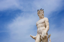Neptune God Of The Sea. Marble...