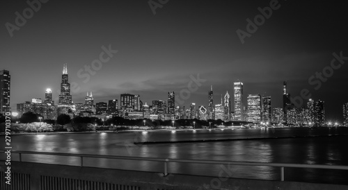 Fototapety, obrazy: big city skyline at night