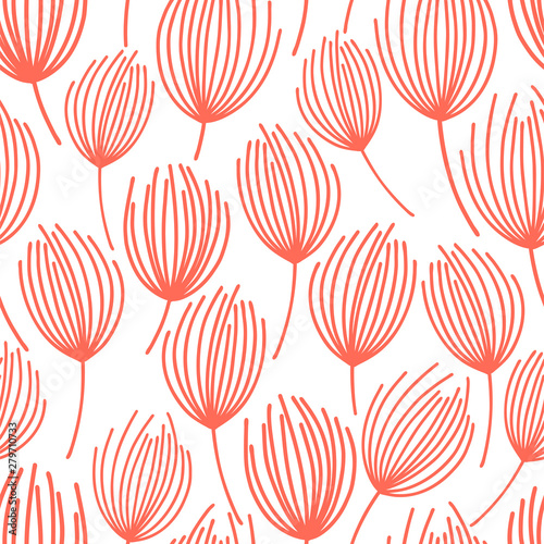 Recess Fitting Pattern Vector seamless pattern on white. Abstract background with floral elements. Natural design.