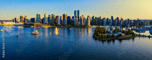 Recess Fitting Canada Panoramic view of Vancouver city at sunset