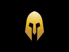 Gladiator Roman Mask Symbol Logo Vector