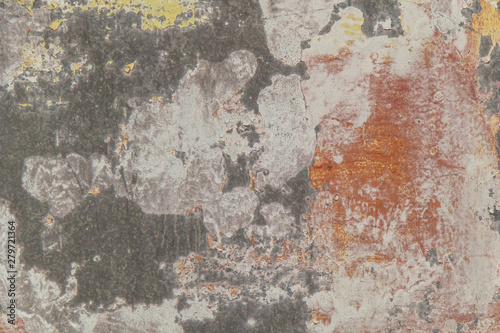 Deurstickers Oude vuile getextureerde muur bright expressive background of different colors on metal