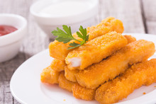 Fried Fish Sticks ( Fingers ) Or Chicken Nugget