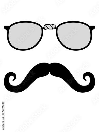 Mustache Schnurrbart Gentlemen Sir Mann Kerl Hornbrille Nerd