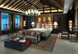 Bedroom or Hotelroom Interior 3D Illustration Photorealistic Rendering