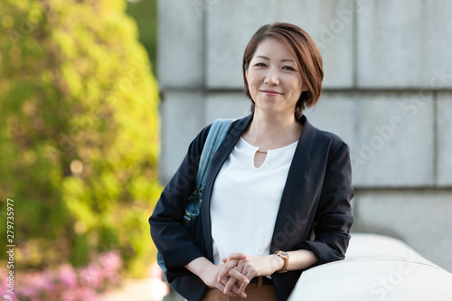 Fototapeta  笑顔のビジネスウーマン