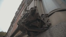 Gargoyle Statue On The Side Of Old Court Building In Manchester UK