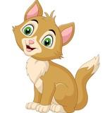 Fototapeta Fototapety na ścianę do pokoju dziecięcego - Smiling cat cartoon isolated on white background
