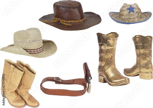 Valokuva  Cowboy`s property. Vector illustration