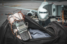 Dynamite Bomb With Phone In Terrorist Bag On Airport