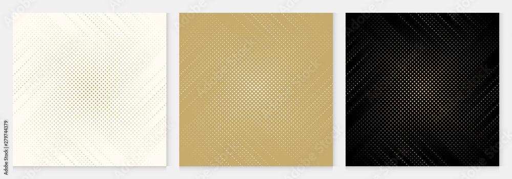 Fototapeta Background dot pattern abstract halftone geometric premium design gold color vector.
