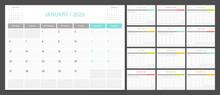 2020 Calendar Planner Design T...