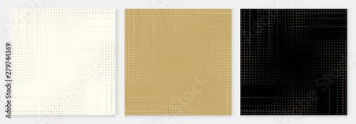 Fotografija  Background dot pattern abstract halftone geometric premium design gold color vector