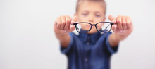 Banner Little Boy With Glasses...