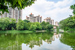 Real estate real estate on the lakeside of Foshan Asian Art Park, Guangdong, China
