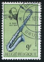 Adolphe Sax And Tenor Saxophone