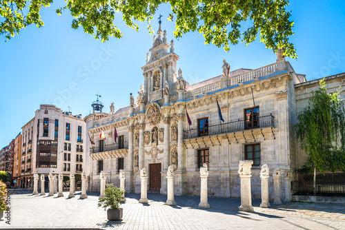 View at the University building in the streets of Valladolid in Spain