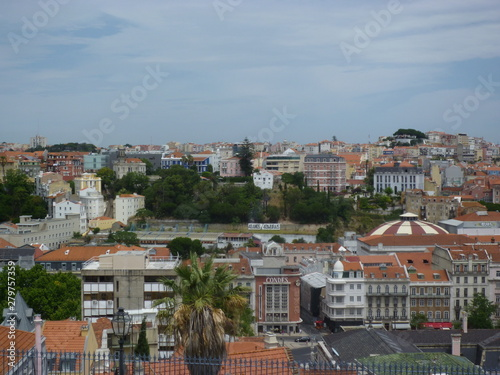Poster Algérie View of cityscape Old City Lisboa Lisbon Portugal