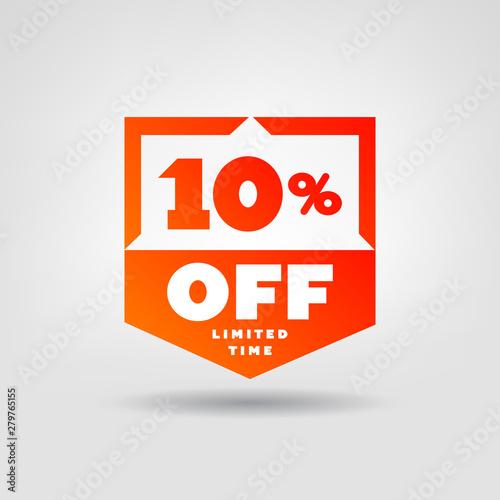 Fényképezés  10% Red Price Tag