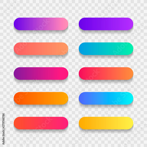 Obraz Super set of button gradient style with shadow isolated on transparent background for website, ui, mobile app. Modern vector illustration design - fototapety do salonu