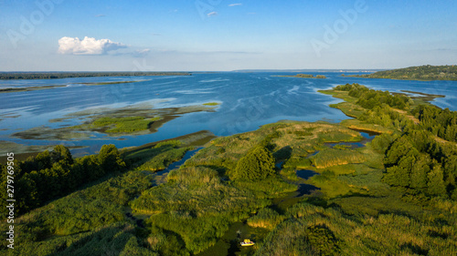 Photo Islands on the Dnieper Ukraine-delineated dronphoto 2019 Year