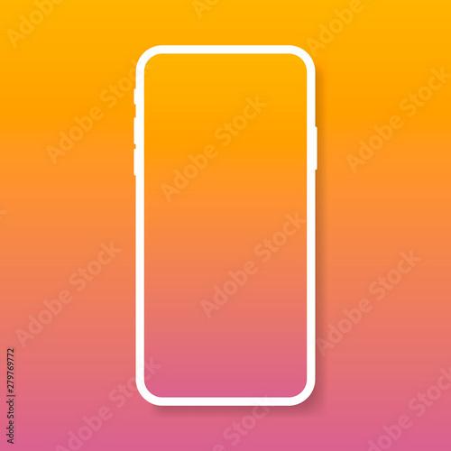 Foto  Smartphone mockup with blank screen, new model phone