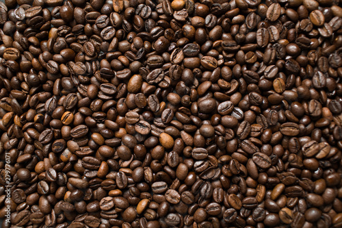 Deurstickers Koffiebonen Coffee beans background wallpaper texture.
