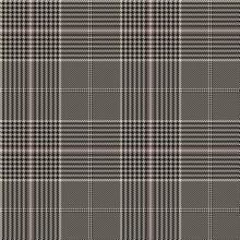 Glen Plaid Seamless Pattern. Vector Background
