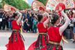 Leinwanddruck Bild - Korean dancers