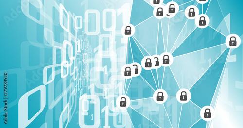 Fototapety, obrazy: Digital warfare binary global memory security