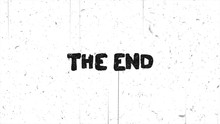 The End Text Grunge Graphic