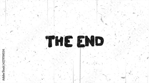 Pinturas sobre lienzo  The end text grunge graphic