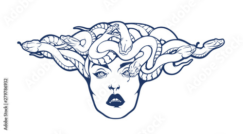 Gorgon Medusa Head Canvas Print