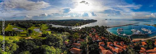 Montage in der Fensternische Schwarz Pulau Batam Panorama
