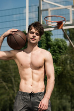 Shirtless Basketball Player Wi...