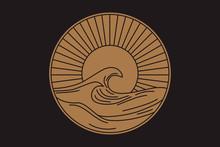 Vector Seascape Illustration, ...