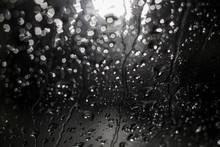 Night Blurred Rain Drops Bokeh
