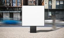 Street Advertising Square Billboard Mockup