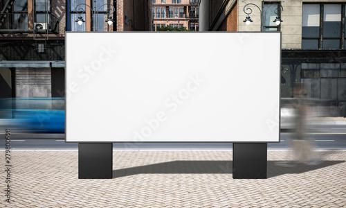 Fotomural  street advertising horizontal billboard mockup